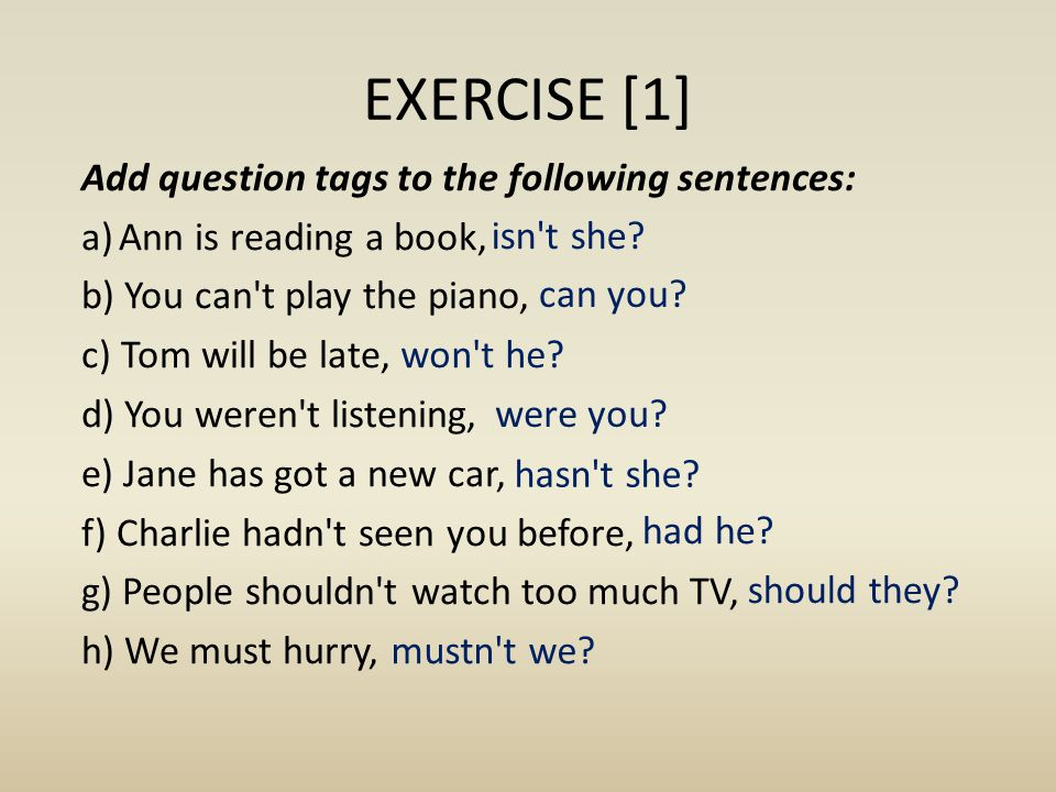 EXERCISE [1]